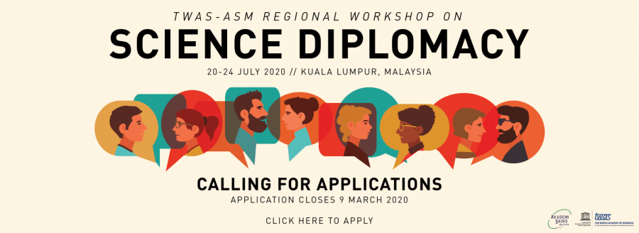 Call for Applications: TWAS-ASM Regional Workshop on Science Diplomacy