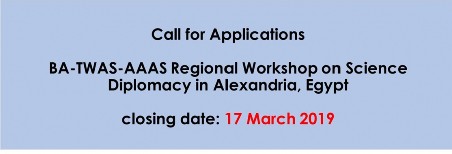 BA-TWAS-AAAS Regional Workshop on Science Diplomacy in Alexandria, Egypt
